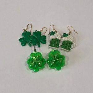 Set of 3 St Patrick's Day ☘️ Novelty Earrings